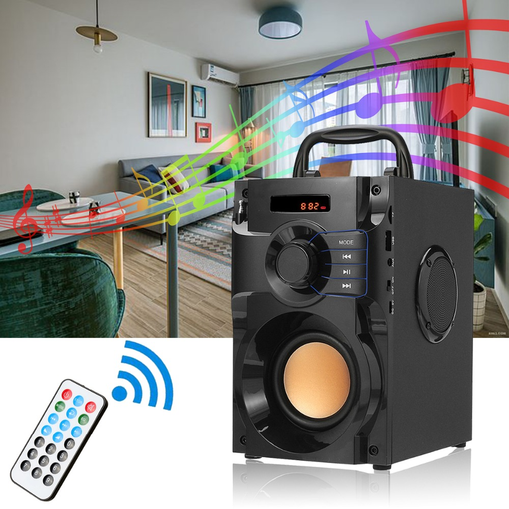 Wireless Bluetooth Speaker Stereo Subwoofer Bass Speakers Music Soundbox with Remote Control Support FM Radio TF AUX USB exrizu ms 136bt portable wireless bluetooth speakers 15w outdoor led light speaker subwoofer super bass music boombox tf radio