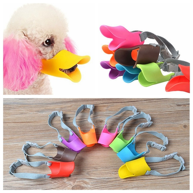 Dog Muzzle Pet Protection Dog Mouth Sleeve Duckbill Mask Design Soft Silicone Anti Bite Bark 1Pcs Dog Accessories 1