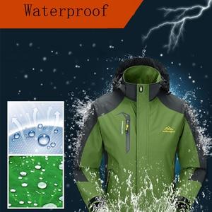 Image 5 - Mountainskin 5XL erkek ceketleri su geçirmez bahar kapşonlu palto erkekler kadın giyim ordu katı Casual marka erkek giyim, SA153