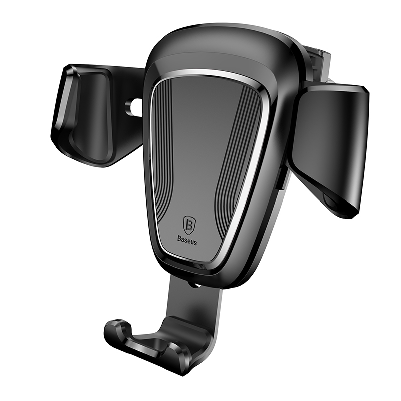 Baseus Gravity Universal Rotatable Car Air Vent Phone Holder Mount Adjustable Clamping Stand 63-88mm For iPhone For Samsung