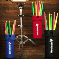 Drum Stick Holder With Adjustable Solid Metal Hoop Mounting Bracket Portable Waterproof Drumsticks Bag Drumstick Case