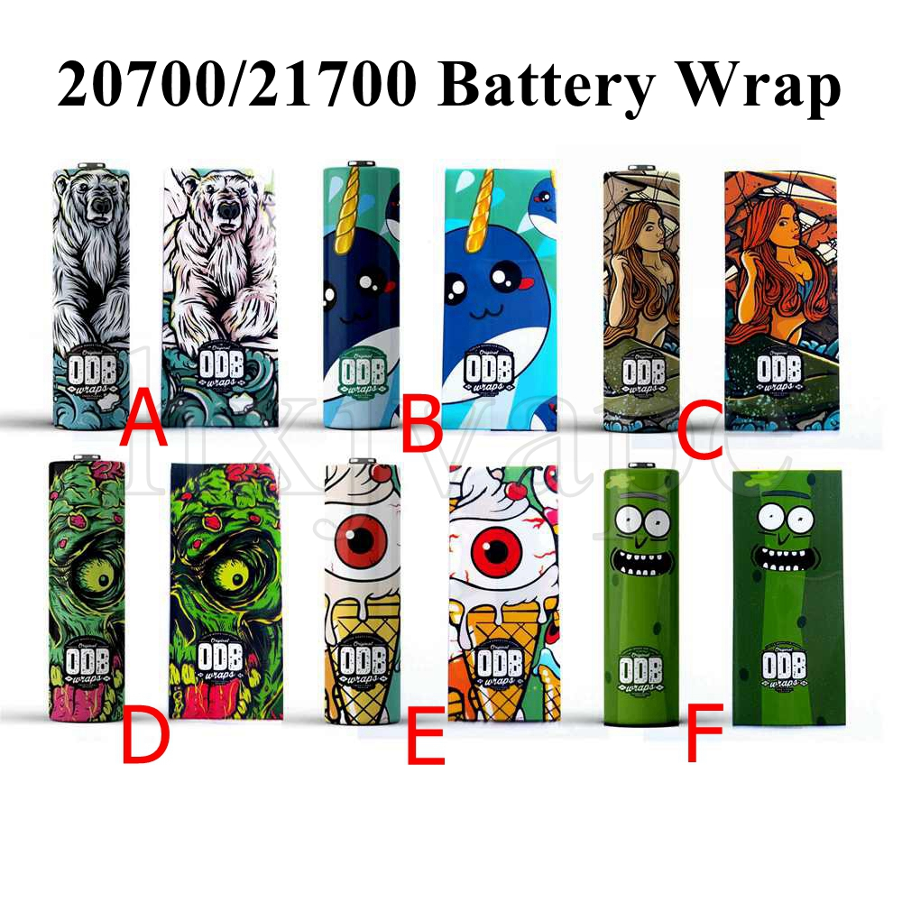 5pcs 20700 21700 Battery Wrap ODB Sleeve Skin For 20700 21700 Battery Vape Electronic Cigarette Accessories Series Sleeve Case