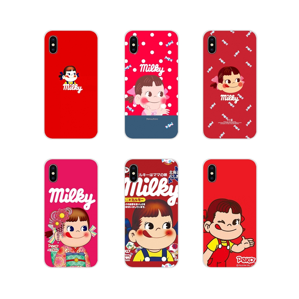 For Samsung Galaxy S4 S5 MINI S6 S7 edge S8 S9 S10 Plus Note 3 4 5 8 9 Sweet Peko Milk Milky Accessories Phone Cases Covers