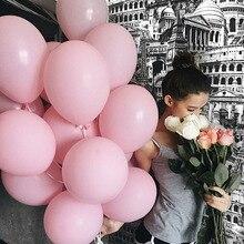 30 pçs/lote 10 polegada Balões De Látex Inflável 2.3g Branco/Rosa Balões para Festa De Casamento Decoração De Aniversário Fontes Do Partido Balões