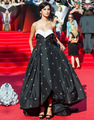 High Low White And Black Prom Party Gowns Sweetheart Hand Make Flowers Sexy Asymmetrical Celebrity Dresses