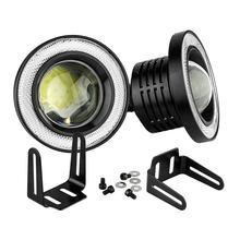1 пара 30 Вт светодиодный COB ангельские глазки дневного света 3 В/3,5 в автомобиле автомобиля противотуманные фары Автомобильный светодиодный фонарь с линзой