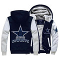 Hot New United States Dallas Zipper Jacket Fleeces Hoodie Logo Winter JiaRong Fleece Mens Sweatshirts Free Shipping
