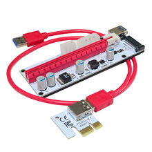 ITHOO USB3.0 60CM PCIE 1X to 16X Graphics Card Extension Cable with Multi-power Ports DC Power Cable for Mining F21931/2