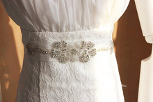 Dorchid Women Cummerbunds for Bridal Womens Floral Cummerbunds Sash Bridal Gowns Crystal Wedding Belt DIY
