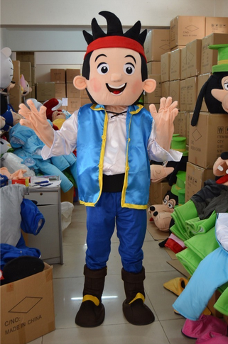 Neverland jack boy mascot costume mascot costume adult size free shippingfor Halloween party event
