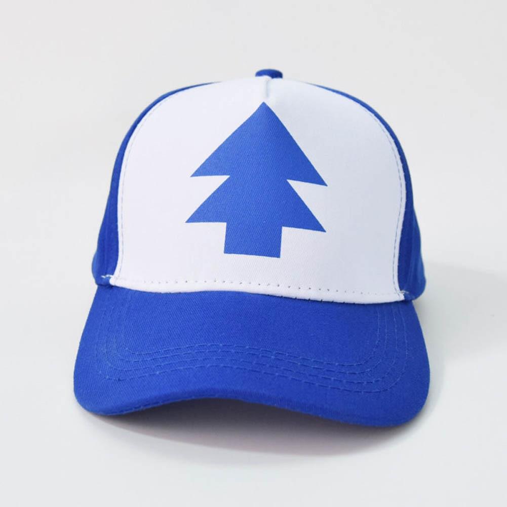 aba439f98eb Blue Pine Tree Hat Cartoon Trucker Snapback Curved Bill Dipper Adult Men  Dad Hat Gravity Falls Baseball Cap-in Baseball Caps from Apparel Accessories  on ...