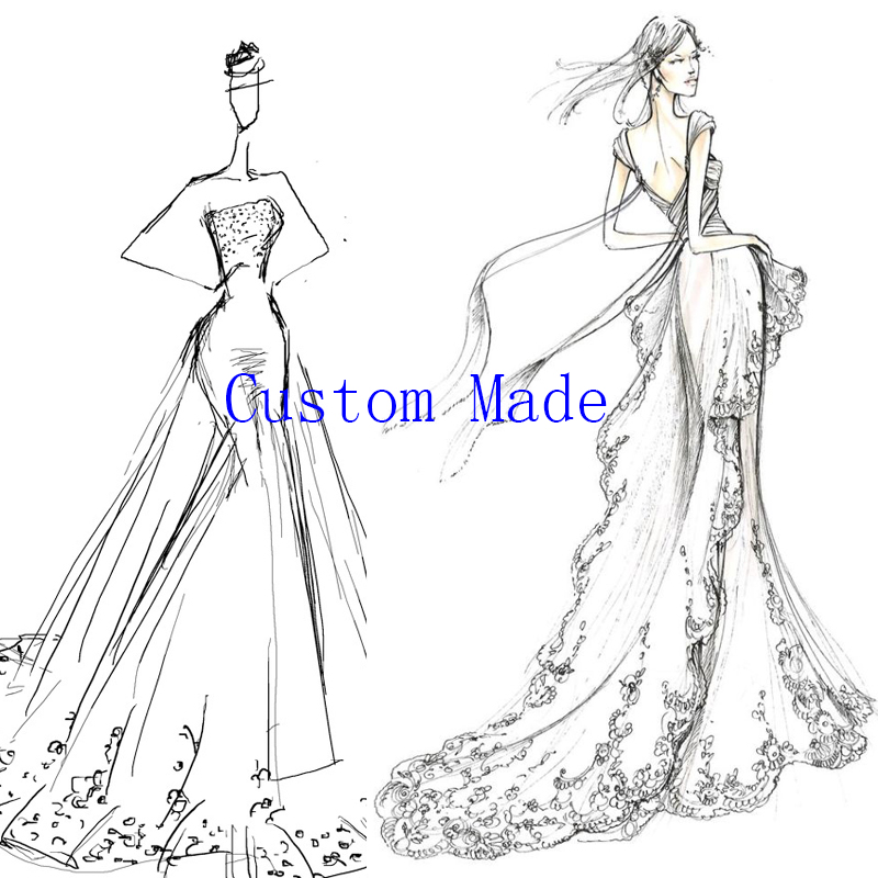 Loverxu Custom Made Evening Dress Prom Dress Wedding Dress