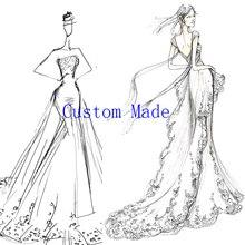 Loverxu feito sob encomenda vestido de noite vestido de casamento vestido de baile