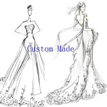 Loverxu תפור לפי מידה שמלת ערב נשף שמלת חתונת שמלה