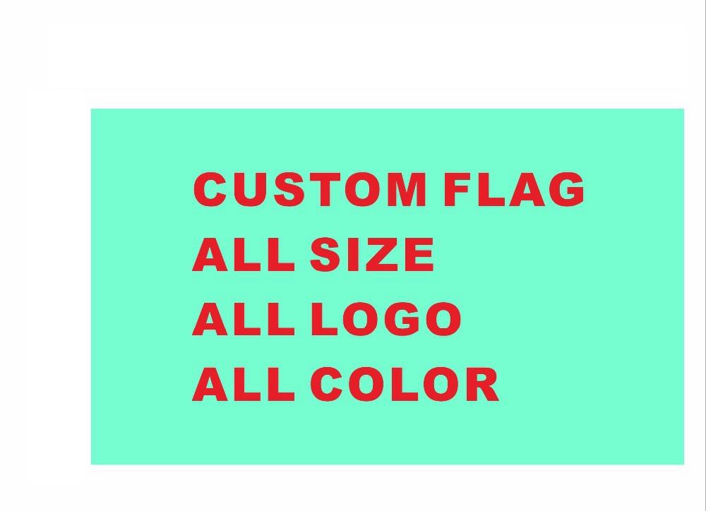 Bandiera Personalizzata su ordinazione di formato Bandiera di Poliestere tutti i logo tutto il colore reale bandiera Con Il Bianco Manica Gromets Metallo-in Bandiere, striscioni e accessori da Casa e giardino su  Gruppo 1