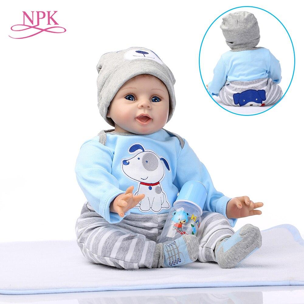 NPK Reborn Puppen Lebensechte Baby Jungen Neugeborenen reburn Puppe 55 cm/22