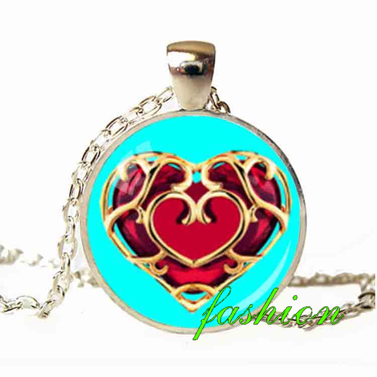Zelda Heart Container Necklace: Mother's Day Gifts Wholesale Zelda Heart Container