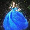 2015 Фильм Золушка Pricess Взрослых Косплей Костюм Партии Женщин Голубое Платье Новый Пром Платье Косплей Костюм Для Взрослых Девушка