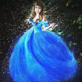 2015 Movie Cinderella Pricess Adult Cosplay Costume Women Party Blue Dress New Prom Gown Cosplay Costume Adult Girl
