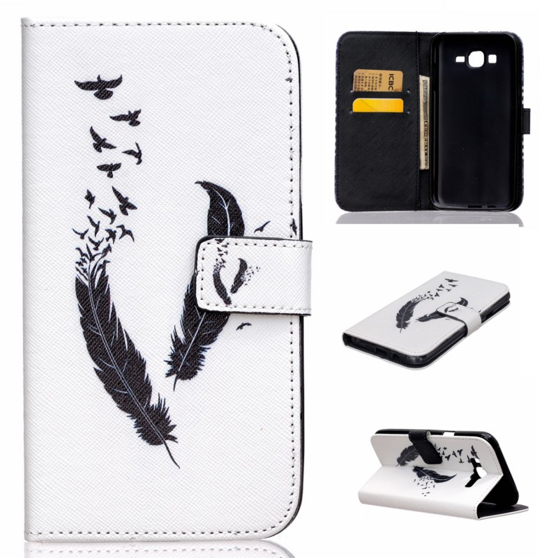 Cute Pug Bear Elephant Owl Flower Butterfly Wallet PU Leather Cover Case For Samsung Galaxy J7 With Card Holder and Book Style