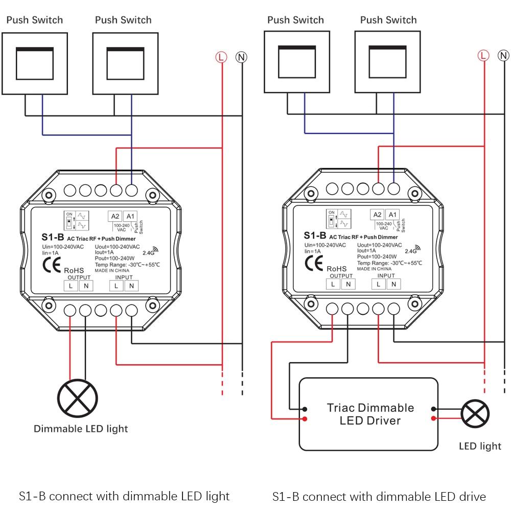 [WRG-1056] Triac Dimming Wiring Diagram