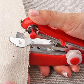 1Pc Red Mini maszyny do szycia robótki bezprzewodowe ręczne ubrania przydatne przenośne maszyny do szycia narzędzia ręczne akcesoria tanie i dobre opinie Mini maszyna do szycia Stebnówki CN (pochodzenie) hand-held sewing machine 100g Nowy manual