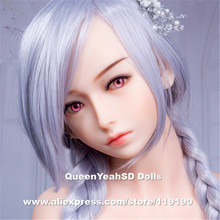 Top Quality Real Silicone Sex Dolls Head For Japanese Love Doll Heads With Oral Sexy Can Fit Body From 140cm to 170cm height