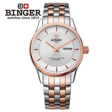 50M Waterproof New Design Brand Binger Wristwatch Colouring Hollow Automatic Mechanical Watch Men Skeleton Swimming Watches k colouring women ladies automatic self wind watch hollow skeleton mechanical wristwatch for gift box