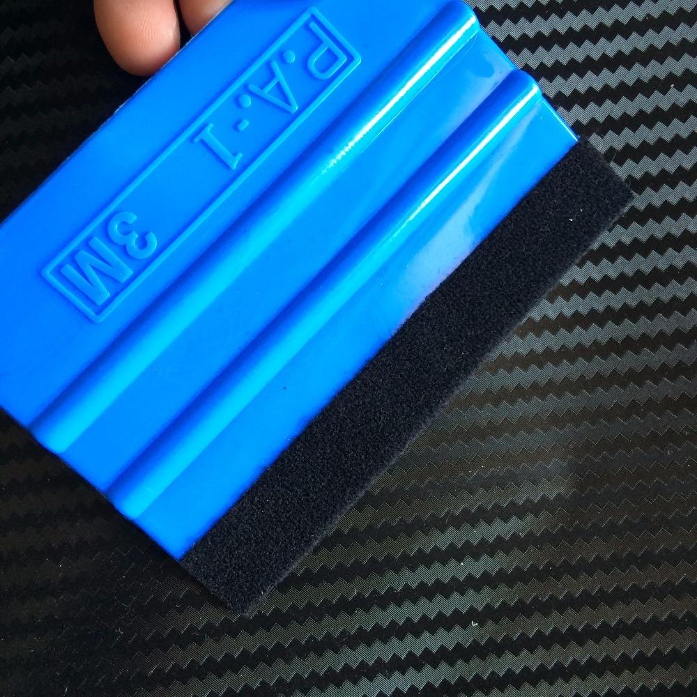 200Pcs 3M Blue Squeegee With Felt Edge For Car Van Bike Wrap Wrapping Squeegee Tool Scraper Car Wrap Applicator Tool n