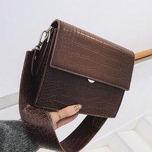Bolso de mano de lujo de diseñador para mujer 2020 nuevo bolso de bandolera de piel de PU de alta calidad con patrón de cocodrilo
