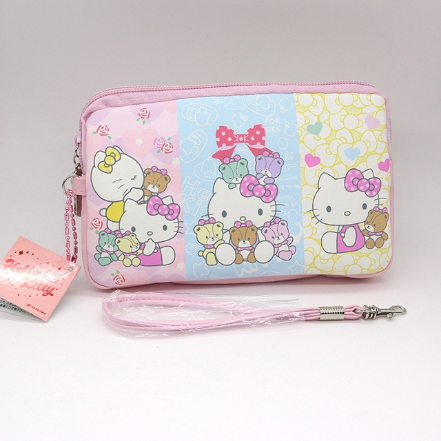 Aliexpress buy hello kitty cartoon passport cover package high hello kitty cartoon passport cover package high quality pu credit card bag business card holder can reheart Images