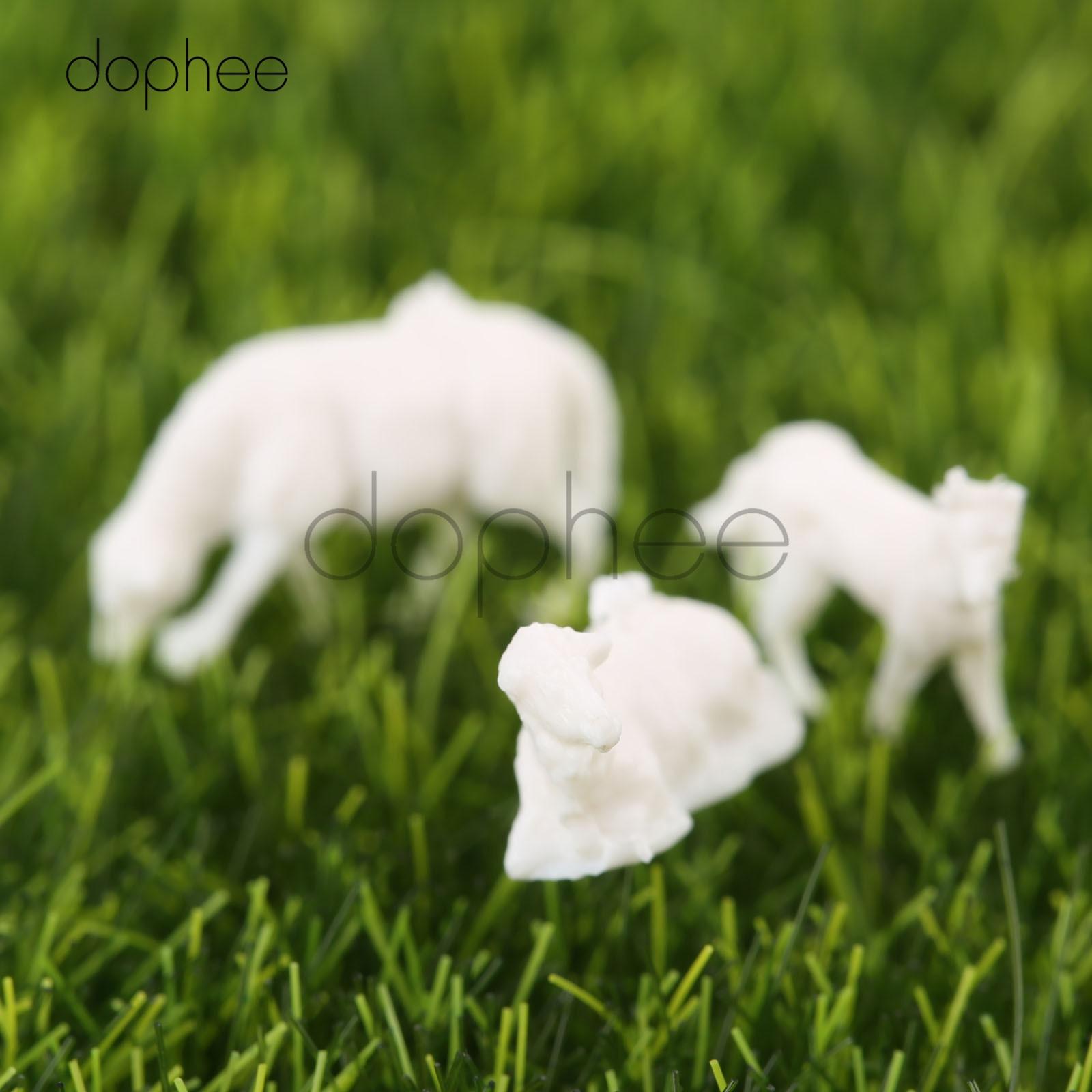 10 Pcs 1:87 Scale Model Painted Color Farm Animals Cows for Model Architecture