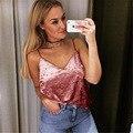 Sexy cuello en V Slim fit Tight Camis 2017 Recién llegado de Brandy Melville crop Top Camisetas Del Tanque Del Chaleco de Rayas Línea Corta Camiseta 2 colores