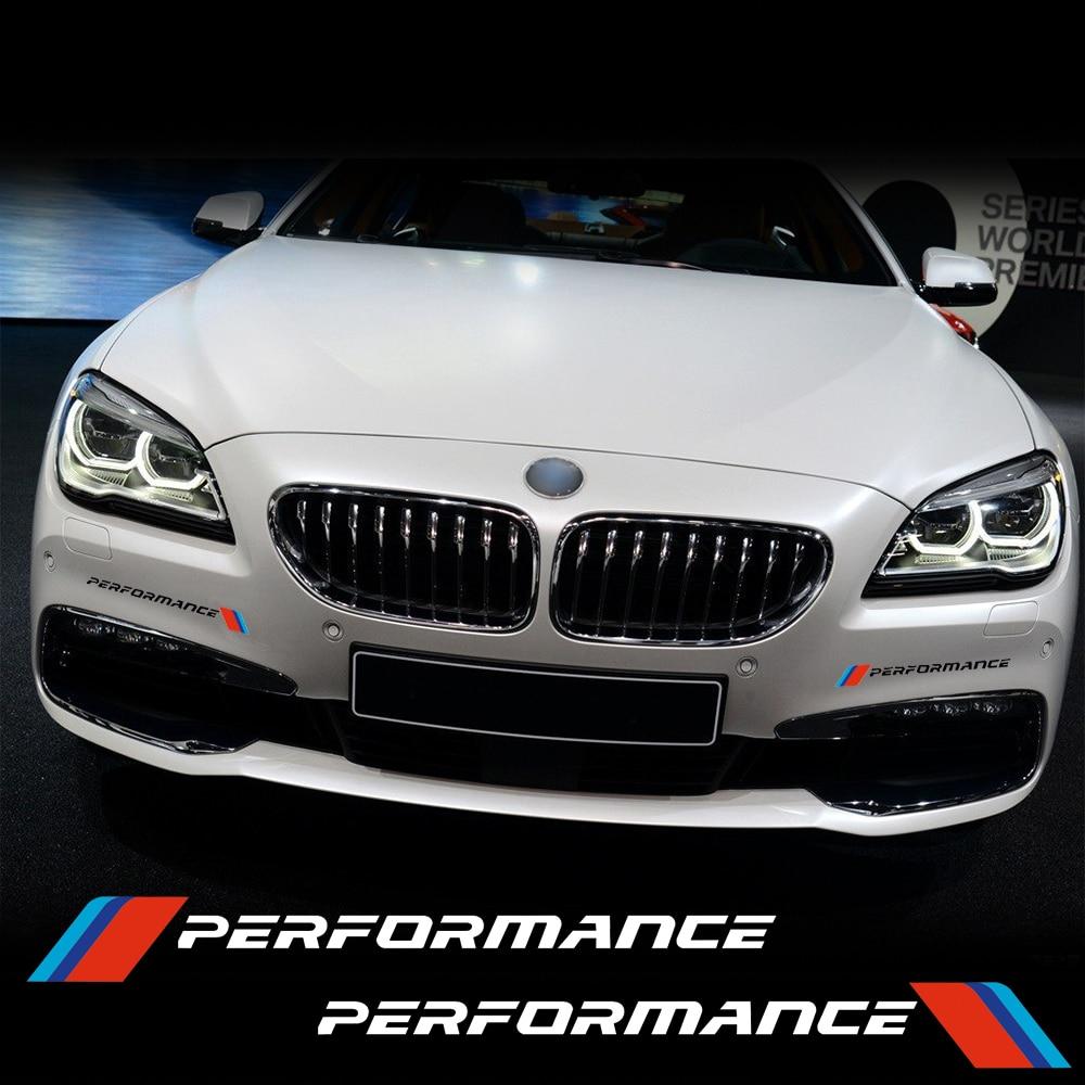 Mobil Depan Bumper Sticker Decal Stiker Sport Kinerja Untuk BMW E90 F30 F10 F20 E46 E60 E60 F15 F30 E39 E30 G30 Z4 Mobil Styling