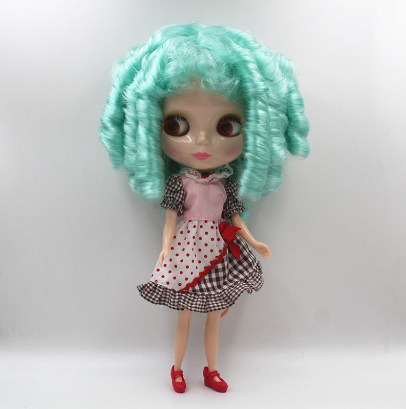 Free Shipping big discount RBL-447 DIY Nude Blyth doll birthday gift for girl 4colour big eye doll with beautiful Hair cute toy free shipping big discount rbl 331 diy nude blyth doll birthday gift for girl 4colour big eye doll with beautiful hair cute toy