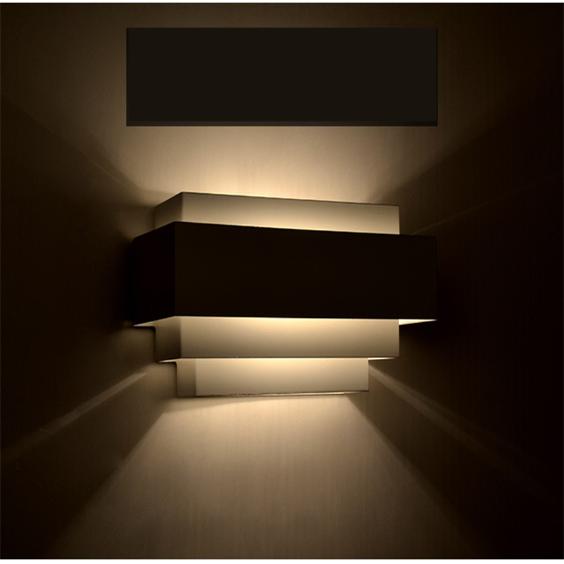 Morden Brief Design Wall Lamps Multilayer Wall Lighting LED E27 220V Wall light For Bedroom Home