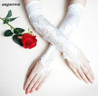 New Wedding Gloves White Lace Crystal Elegant Bride Gloves for Weddings long design lucy refers to white accessories