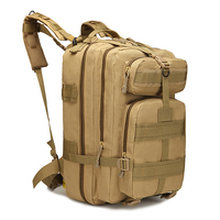 AOKALI Brand Men S Outdoor Bag Camping Hiking 3P Nylon Assault Military Tactical Backpack Army Molle