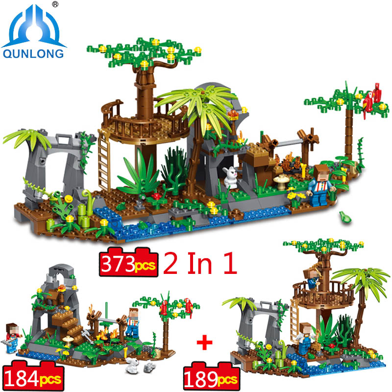 qunlong Village Building Blocks Compatible Lepin Boy Girl Toys Compatible Legoe Minecraft City Bricks For Children Friends Gift lepin 02012 city deepwater exploration vessel 60095 building blocks policeman toys children compatible with lego gift kid sets