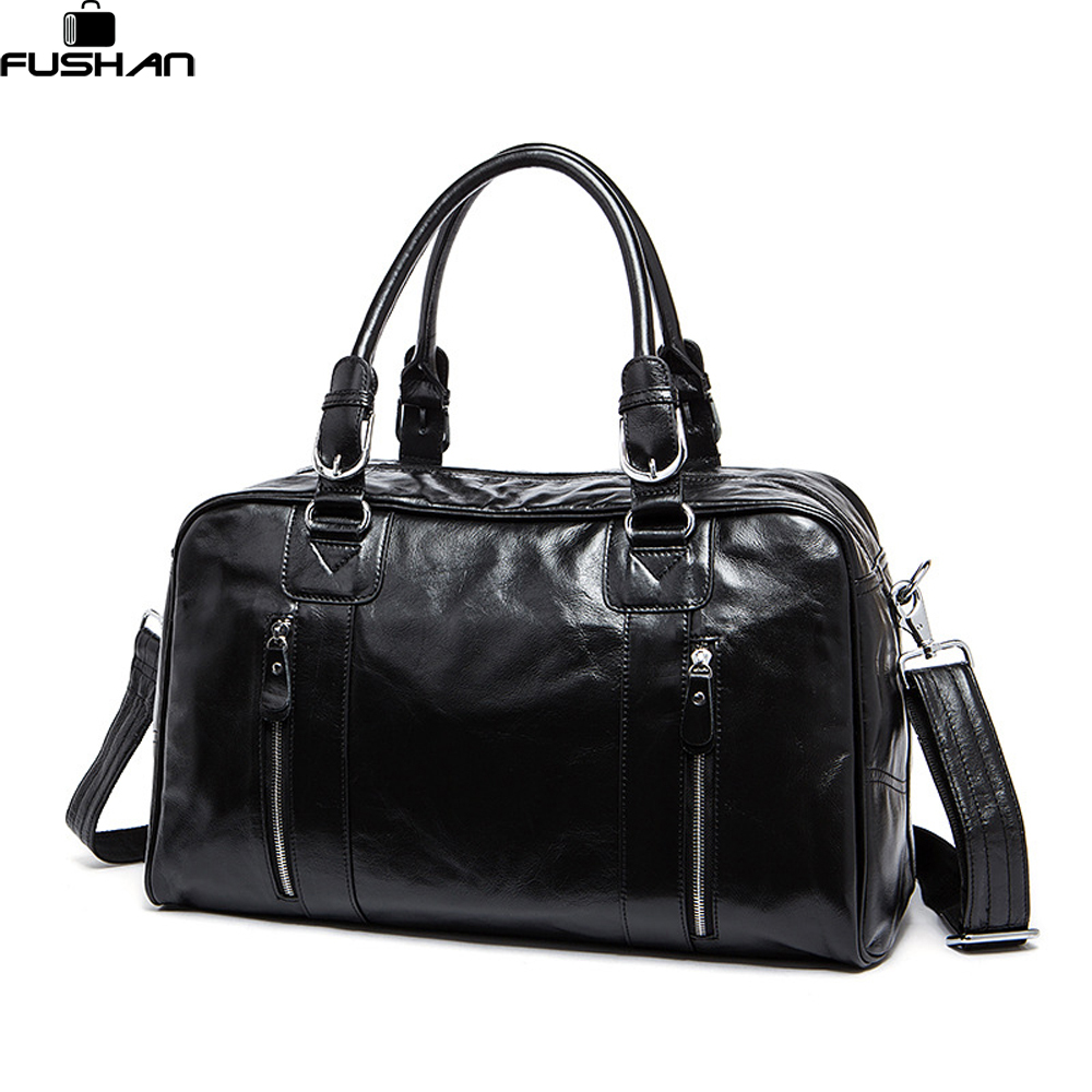 Fashion genuine leather Men Travel Bag Overnight Tote Duffle Bag Brand Designer Large Capacity Hand Luggage Shoulder Bag mini lcd display backlit portable digital scale 100g 0 01g 2 x aaa