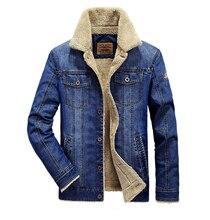 Brand Clothing 2016 Winter Thicken Fleece Men Denim Jackets Casual Turn-down Collar M-XXXXL Man Jean Coats Keep Warm  Overcoats