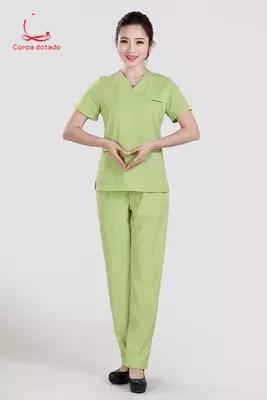Korean Version Of Cosmetic Surgery Clothes Fashion Plastic Surgery Hospital Nurses Wear Short Split Operation Clothes