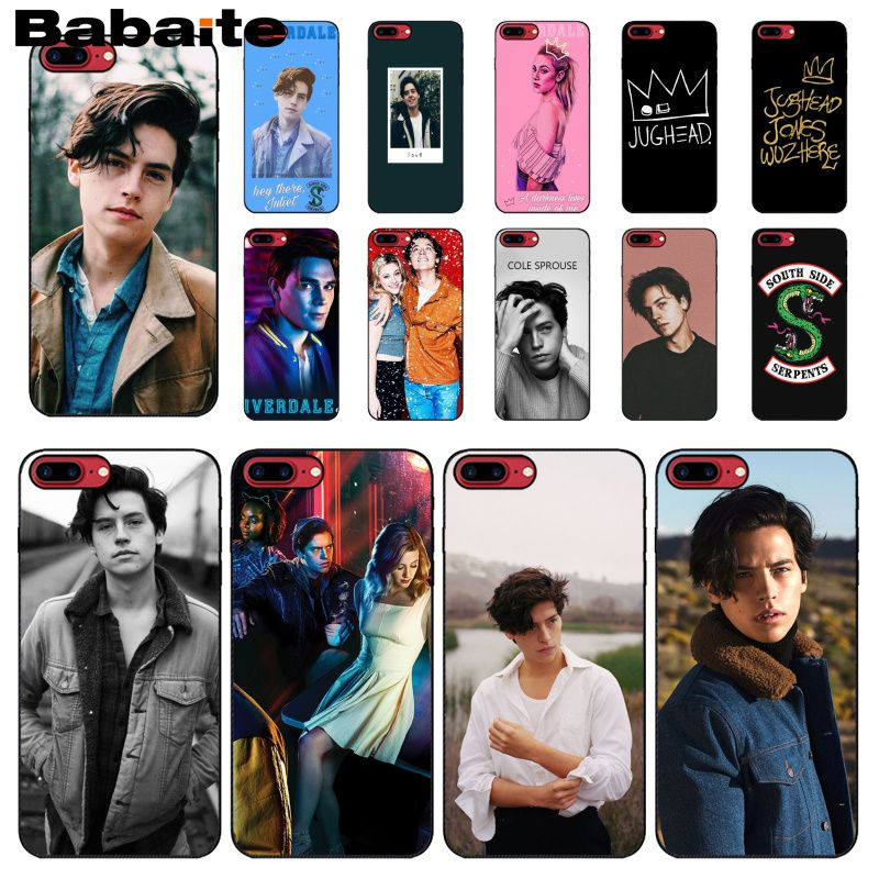 Babaite American TV Riverdale Jughead Jones Black Soft Shell Phone Cover for iPhone 6S 6plus 7 7plus 8 8Plus X Xs MAX 5 5S XR