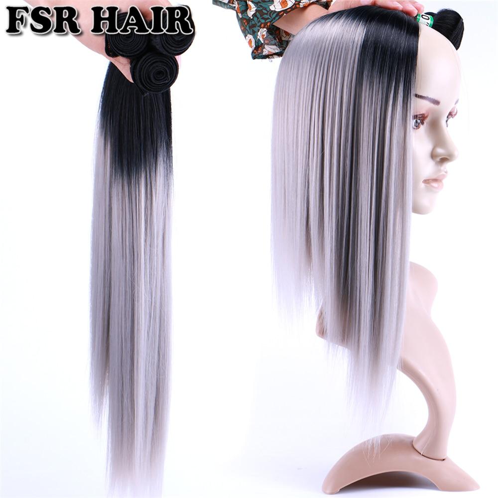 Pacotes de cabelo ombre borgonha extensão do