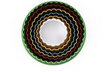 6 pcs/lot rond cercle forme PP en plastique Fondant Cookie Biscuit pâte Cutter Tiramisu moules pour boulangerie pâtisserie fournitures NE 004