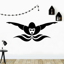 Modern swim Wall Sticker Home Decoration Accessories Removable Room