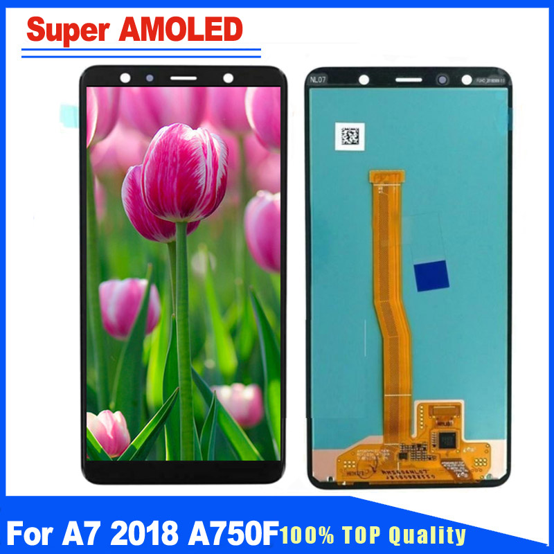 New Replacement Parts For Samsung Galaxy A7 2018 SM-A750 A750F A750FN Super AMOLED LCD Display With Touch Screen Full AssemblyNew Replacement Parts For Samsung Galaxy A7 2018 SM-A750 A750F A750FN Super AMOLED LCD Display With Touch Screen Full Assembly