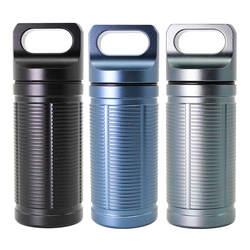 Открытый EDC Pill Bottle алюминиевый сплав одиночный камера капсула водостойкий Pill чехол для пеший туризм кемпинг