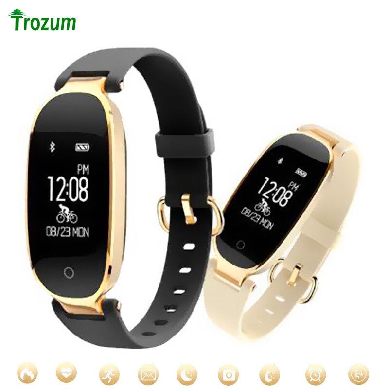 S3 moda banda inteligente pulseira menina feminino monitor de freqüência cardíaca pulso pulseira inteligente senhora feminino aptidão rastreador usar