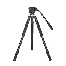 Skilled 0509A Aluminum Alloy Digicam Tripod with Fluid Drag Head Video Tripod for DSLR Digicam Video Camcorder